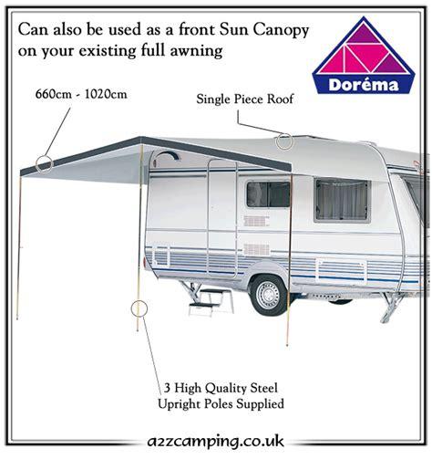 caravan sun shade awnings dorema monaco caravan sun canopy