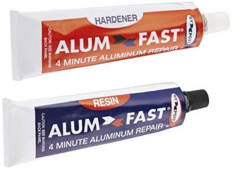 aluminum boat repair kit new hy poxy h 455 alumfast 6 5 oz rapid cure aluminum