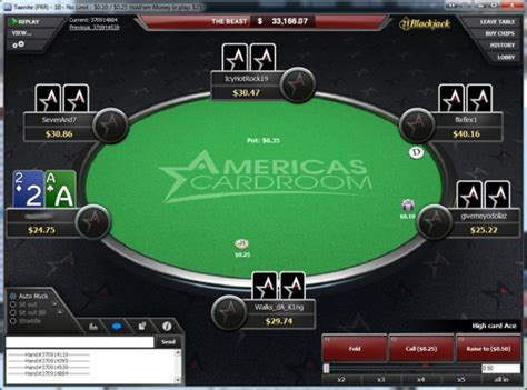 american card room americas cardroom software guide and review