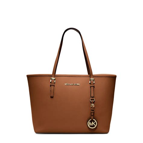 Totte Bag Maika Cafa Brown michael kors jet set travel saffiano leather small tote