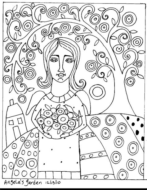 Folk Coloring Pages Folk Art Coloring Pages Az Coloring Pages