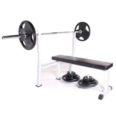 flat barbell bench commercial duty olympic flat barbell weight lifting chest press workout bench ebay