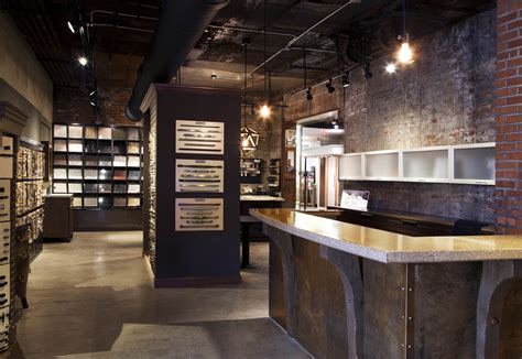 retail design showroom in wood granite and quartz retail showroom retail design