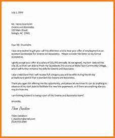 Offer Letter By Email 9 Offer Letter Acceptance Email Sle Ledger Paper