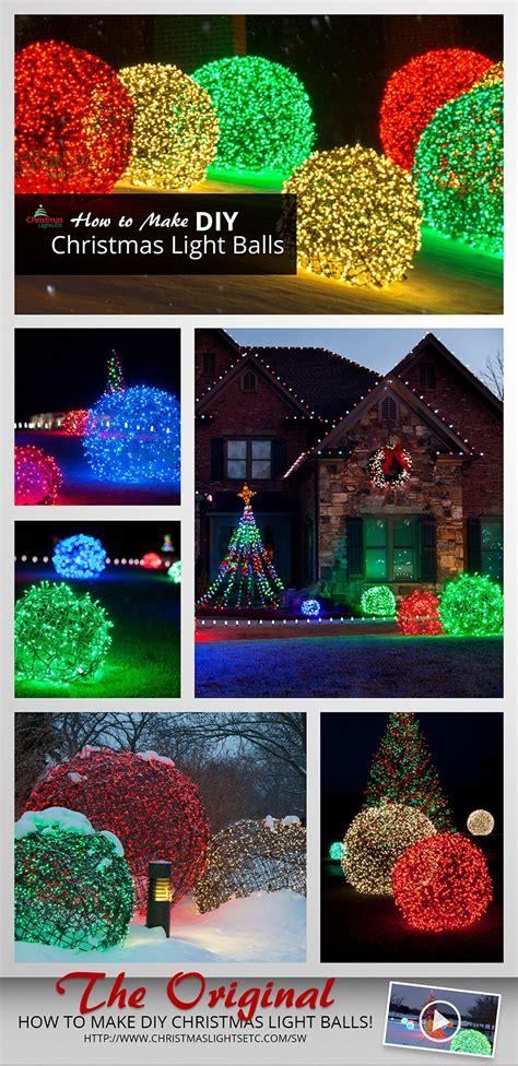 Make Christmas Light Balls