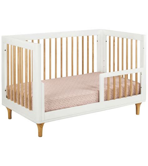 Baby Cribs White Convertible Babyletto Lolly 3 In 1 Convertible Crib With Toddler Bed Conversion Kit In White