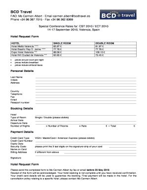 accommodation booking form template hotel reservation form fill printable fillable