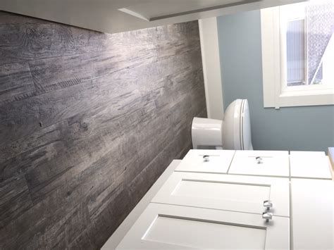 rustic modern hardwood floor bathroom degraaf interiors