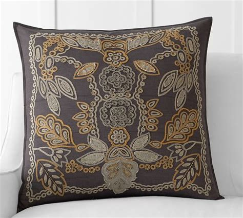 lara aplique lara appliqu 233 embroidered pillow cover pottery barn
