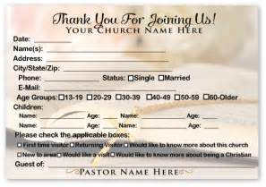 Church Welcome Card Template by Welcome Visitor Cards Ministry Greetings Christian