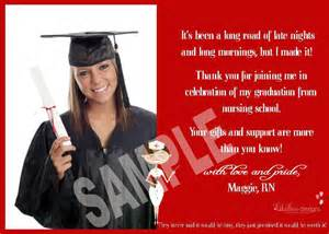 graduation thank you card personalized printable