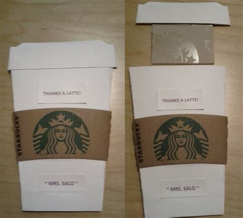 Starbucks Gift Card Holder - 12 best images about teacher appreciation on pinterest gift card holders thanks a