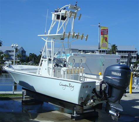 boat fishing tower for sale canyon bay 2475 tower boat w yamaha 250 four stroke the