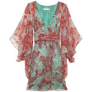 matthew williamson print jade silk chiffon kimono dress cricket fashion boutique uk