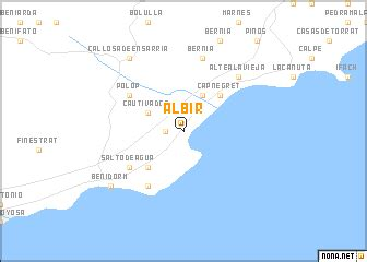 albir (spain) map nona.net