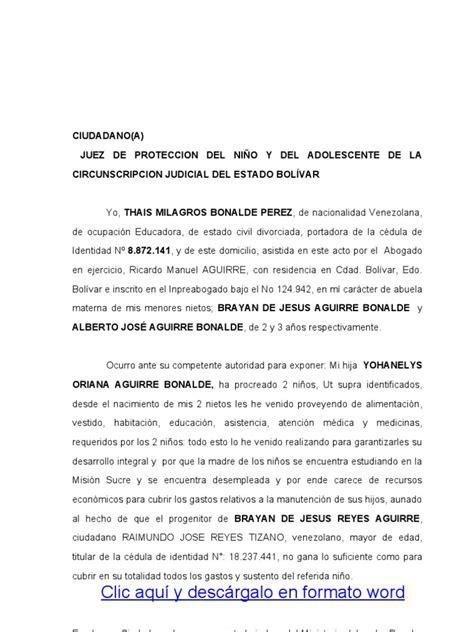 carta de compromiso beca manutencion formato modelo ejemplo justificativo de carga familair