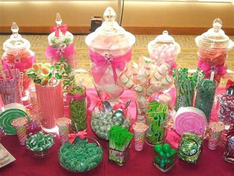 Birthday Party Archives Celebrate Decorate Pink And Green Buffet