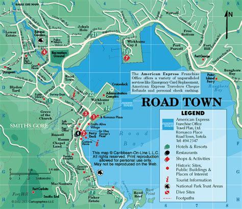 map  road town tortola bvi sailing trip pinterest