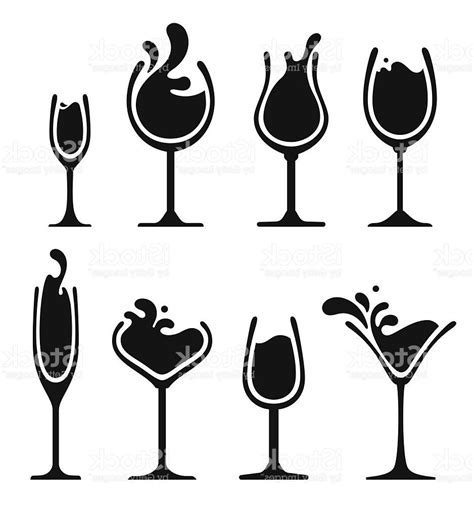 wine glass silhouette 100 wine vector with wine vector art getty images
