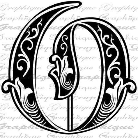 Letter Initial O Monogram Old Engraving Style Type By Graphique Stencils Pinterest Engraving Templates Letters