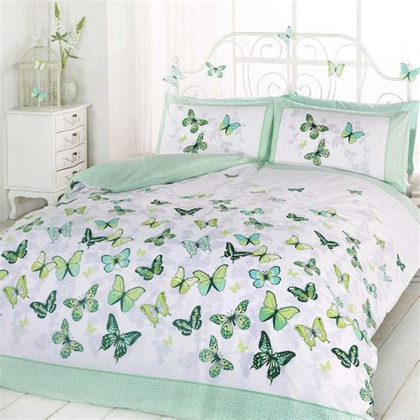 butterfly bedding butterfly flutter duvet cover set with 2x