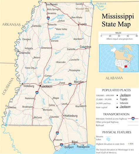 mississippi state map mississippi state map a large detailed map of mississippi state usa