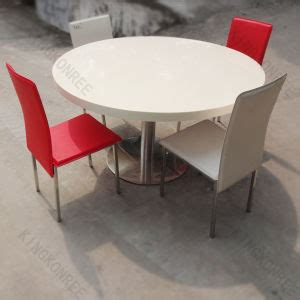 China Round Quartz Stone Top Dining Table And Chair Quartz Top Dining Table