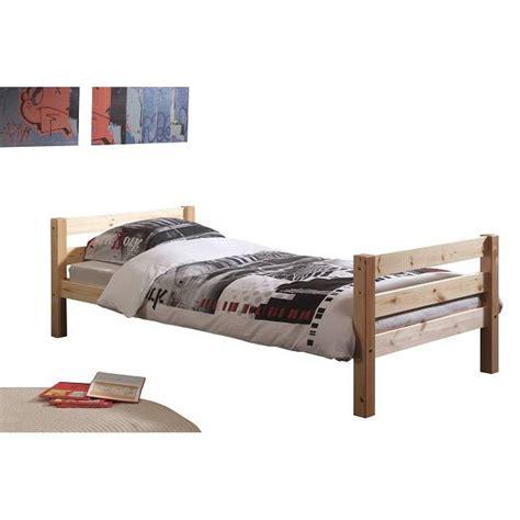 lit simple design lits chambre literie lit simple pino en pin massif naturel inside75