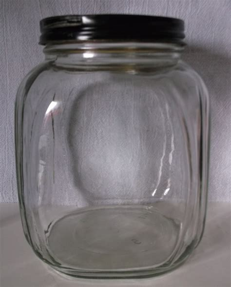 painted glass coffee vintage art deco era glass coffee jar with painted black