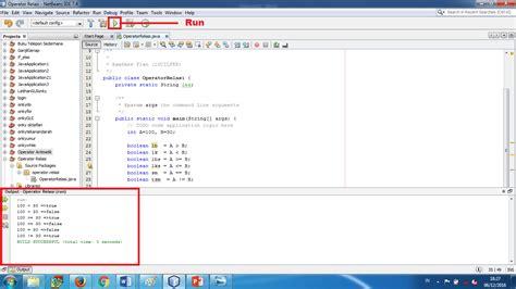 membuat program html tutorial membuat program dengan operator relasi pada netbeans