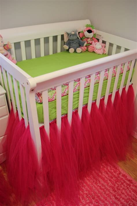 Tulle Crib Bedskirt by Crib Bed Skirt Cozy Nursery