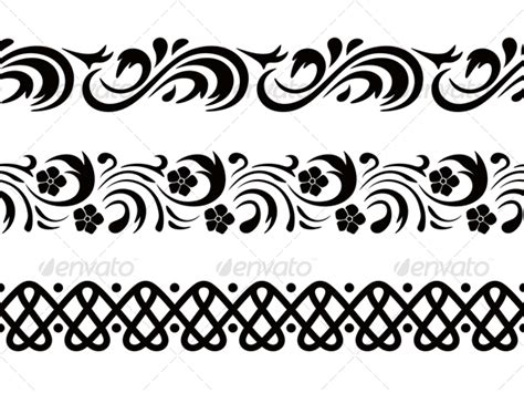 patterns black and white border simple side border designs cliparts co