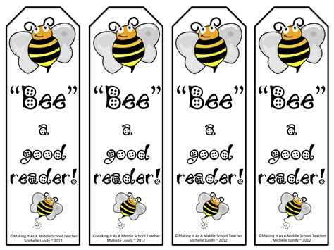 Printable Good Reader Bookmarks | busy bee book bus