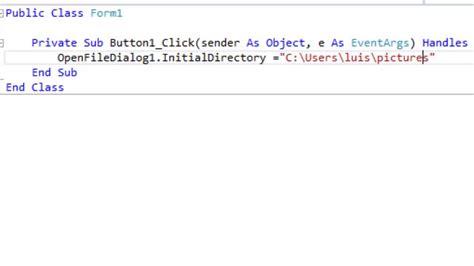 cargar imagenes visual basic cargar imagen en picture box con openfiledialog desde