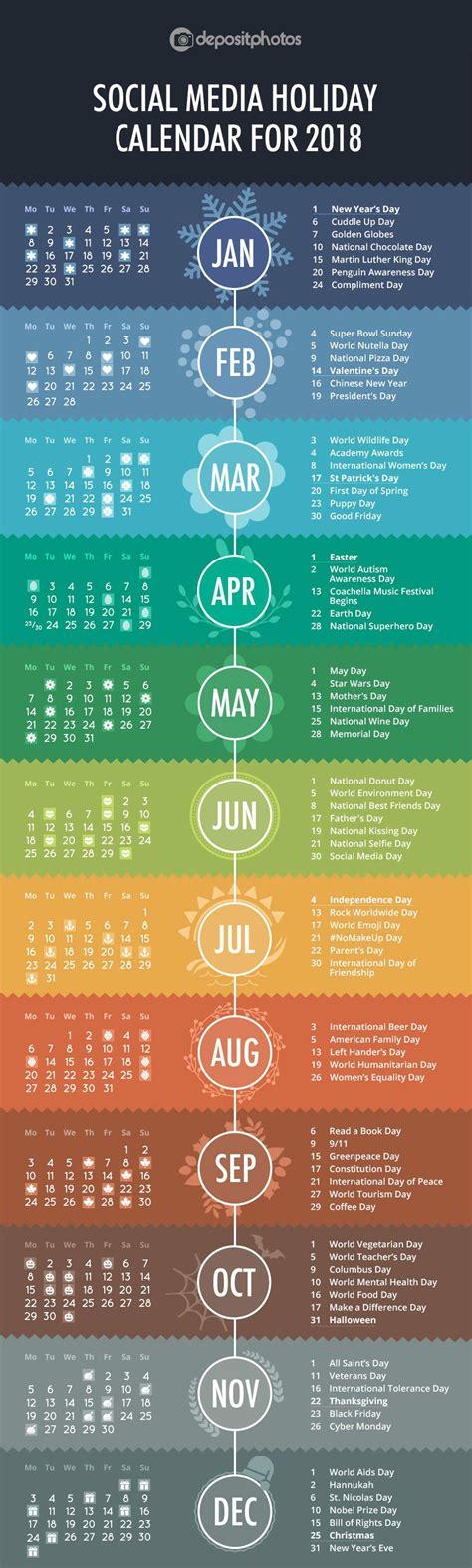 holiday event calendar infographic