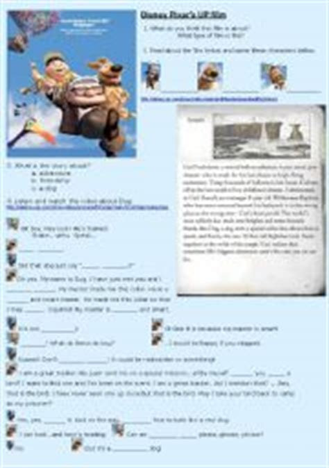 up film worksheet english teaching worksheets disney movies