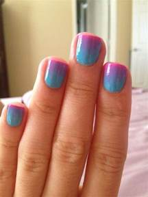 two color nails two tone nail scrapbook craft stuff mac makeup