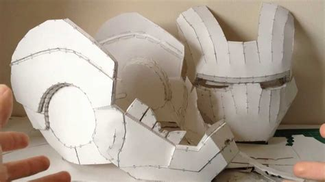 Ironman Helmet Papercraft - iron helmet pepakura tutorial part 1 software sc