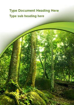 trees   forest word template  poweredtemplatecom
