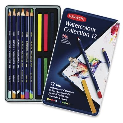 Derwent Watercolour Pencil 24 Set derwent watercolor pencil collection tin sets blick