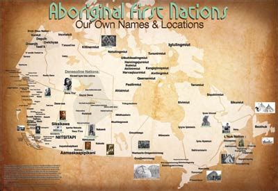 canadian map of indian tribes mapmaker continues american tribe traditional name