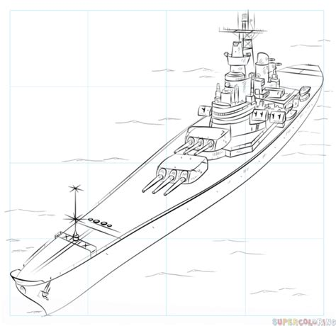 navy boat easy drawing how to draw a battleship step by step drawing tutorials