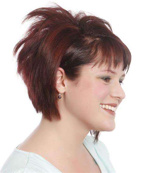 bob hairstyles with height on crown short straight casual bob hairstyle with razor cut bangs