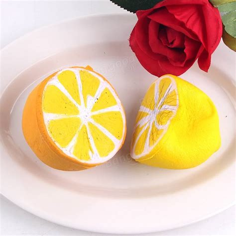 Promo Jumbo Lemon Squishy By Sanqi Elan sanqi elan squishy lemon 6cm rising original packaging fruit collection gift decor sale