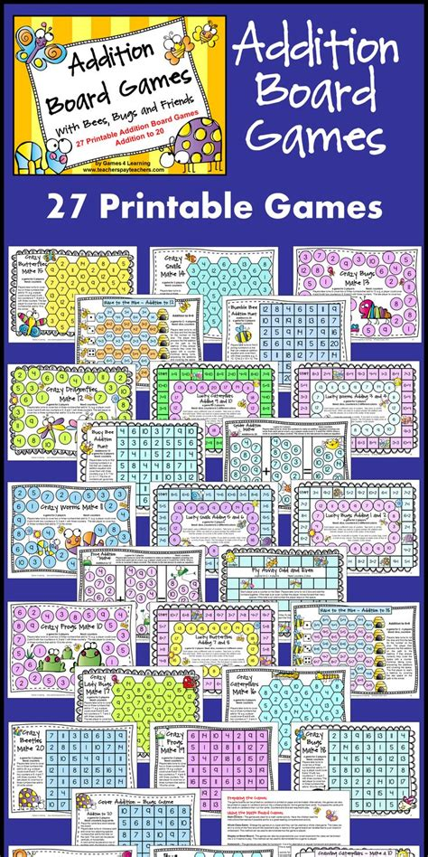 addition board games ks1 printable addition to 20 games printable 1000 ideas about addition