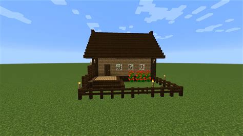 How To Make A Wooden House In Minecraft by Easy Wooden House In Minecraft