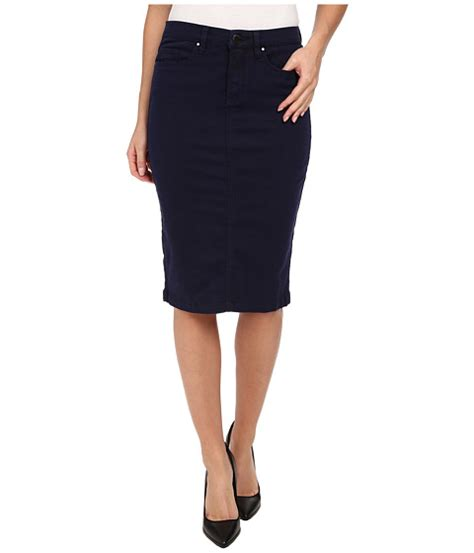 blank nyc navy blue pencil skirt midnight blue shipped