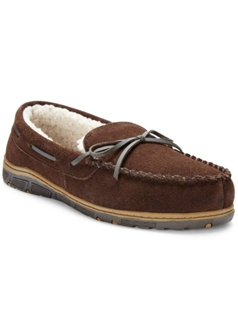 mens fur lined moccasin slippers rockport rockport s faux fur lined moccasin slippers