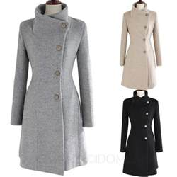 2016 winter macs ladies vintage upright collar belted
