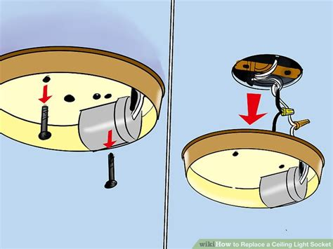 how to replace ceiling light how to replace a ceiling light socket 13 steps with